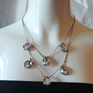 NWT Silver Fashion Necklace Size 18""